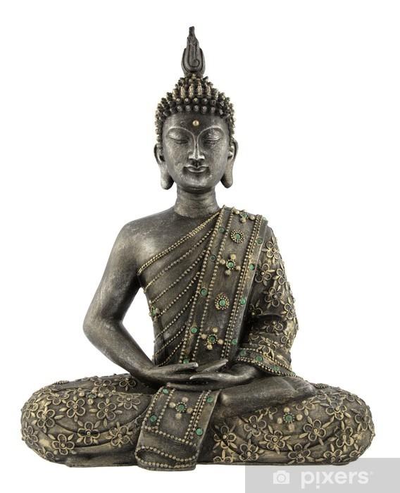 Fotomural Estándar Statue de bouddha sur blanc - Vinilo para pared