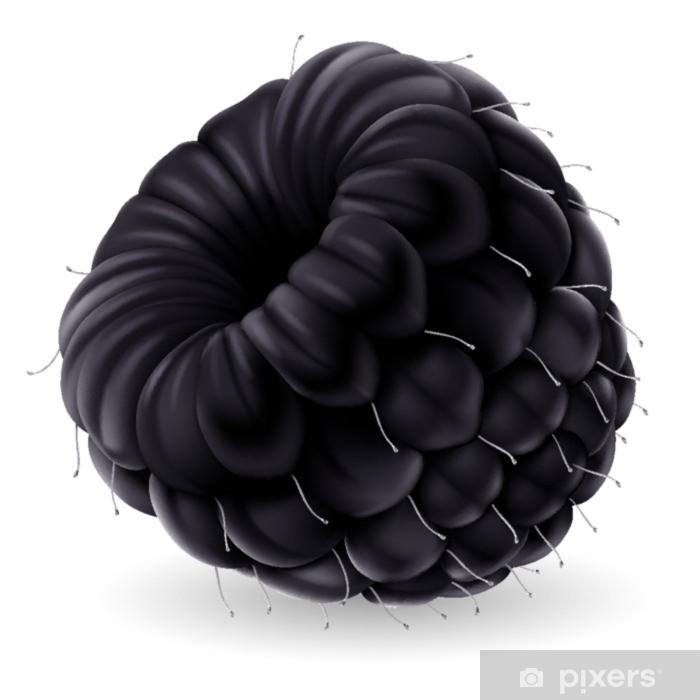 Pixerstick Sticker Blackberry op witte achtergrond - Dieren