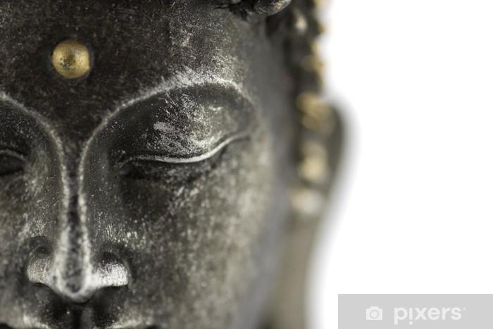 Pixerstick Sticker Statue de bouddha sur fond blanc - Thema's