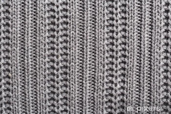 Naklejka Pixerstick Wełna Knitting bliska tekstury - Zasoby graficzne