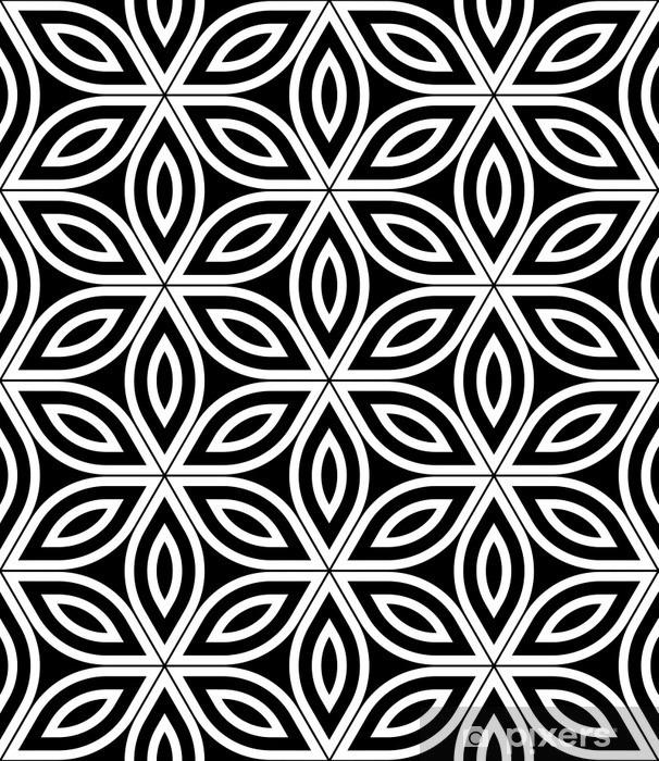 Papier Peint Vector Moderne Seamless Sacre De La Geometrie Noir Et