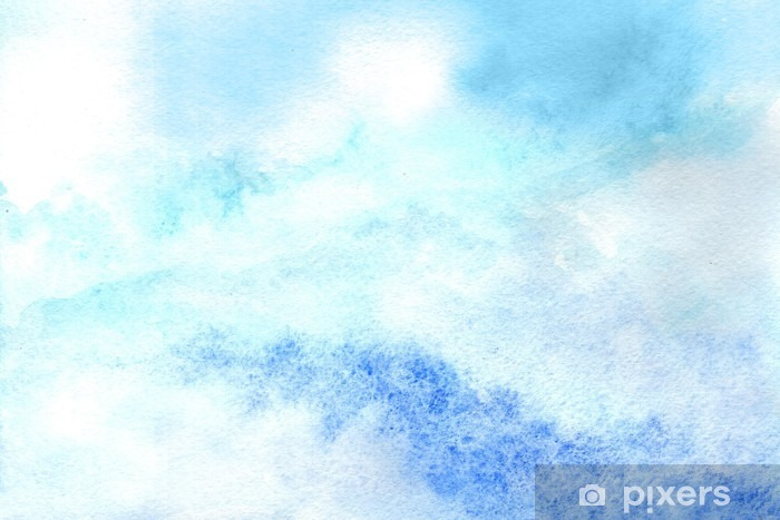 Sky in watercolor Vinyl Wall Mural - Graphic Resources