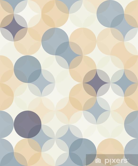 Bureau- en Tafelsticker Vector moderne naadloze kleurrijke meetkunde patroon van cirkels, kleur abstract geometrische achtergrond, behang druk, retro textuur, hipster fashion design, __ - Grafische Bronnen