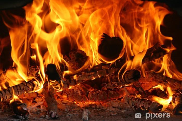 Sticker pour table et bureau Feu Fire Flammes Flames Chaleur Heat -