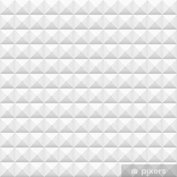 Vinyl Fotobehang Witte tegels, pleinen, vector illustratie, naadloos patroon - Grafische Bronnen