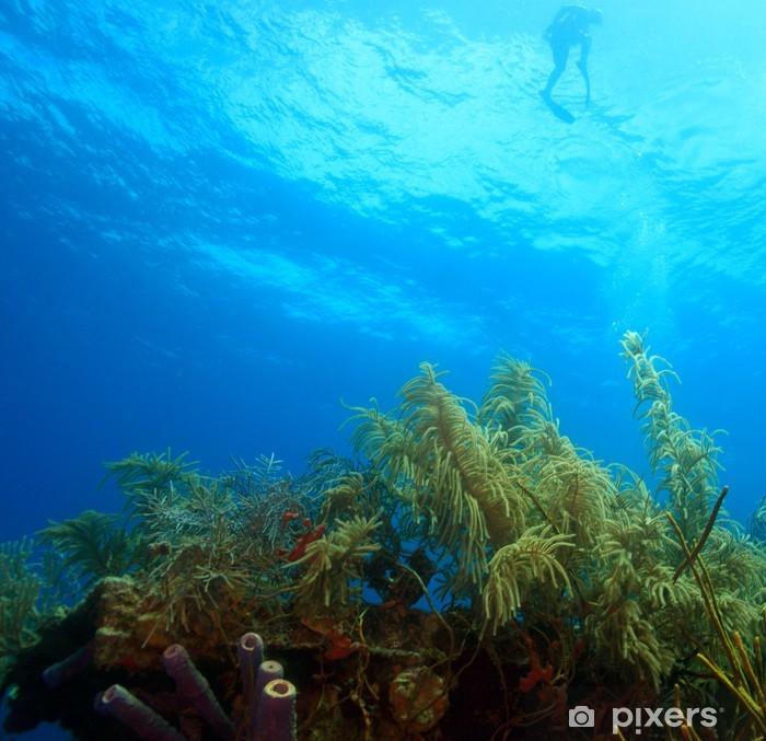 Sticker Pixerstick Snorkeler - Sous l'eau
