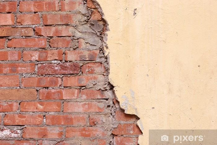 Half Brick Half Stucco Background Wall Mural Pixers We Live To Change
