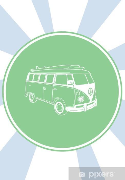 Vinyl Fotobehang Volkswagen 70. De zomer van de liefde - Volkswagen