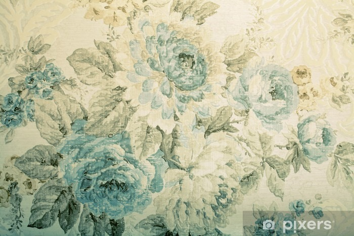 Fototapeta winylowa Vintage tapety z niebieskim wzorem kwiatowym wiktoria - Zasoby graficzne