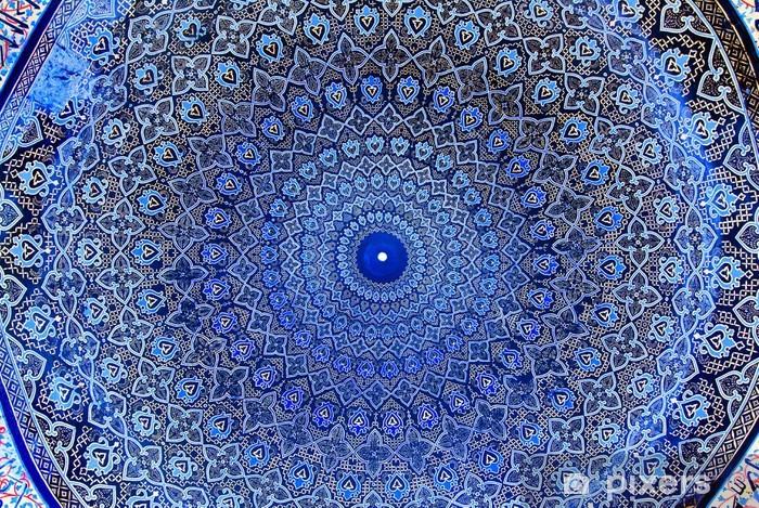 Vinyl Fotobehang Koepel van de moskee, oriëntaalse ornamenten - Abstractie