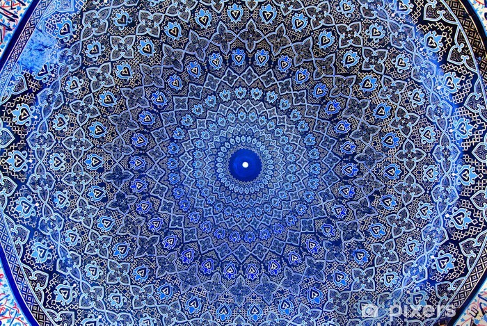 Sticker Pixerstick Dôme de la mosquée, ornements orientaux - Abstraction