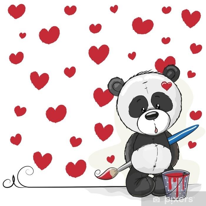 Plakat Artysta panda - Zwierzęta