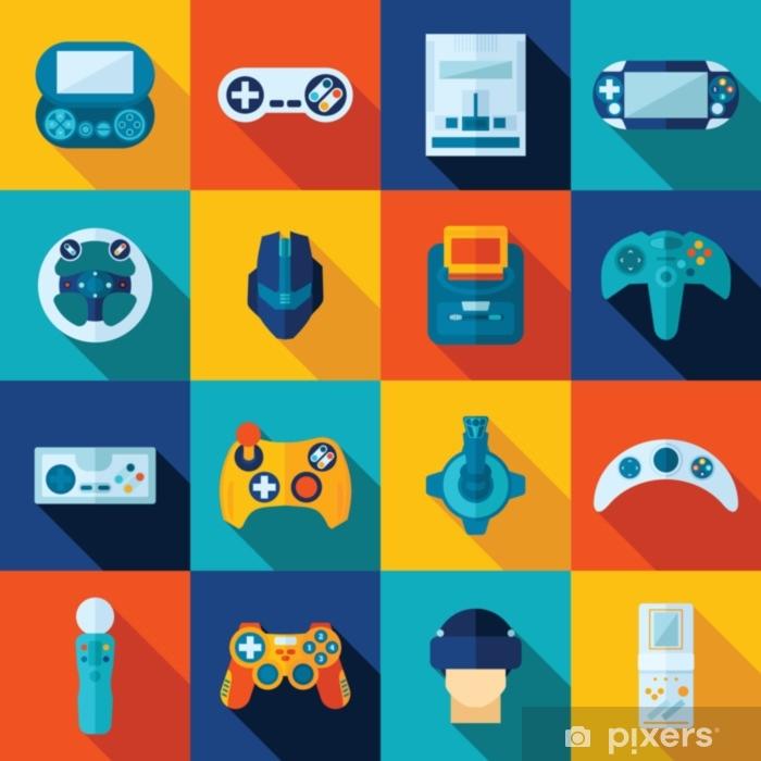 Naklejka Pixerstick Zestaw ikon gier wideo - Technologia
