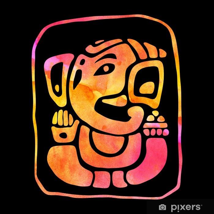 Ganapati. Hindu God Ganesha. Vinyl Wall Mural - Religion