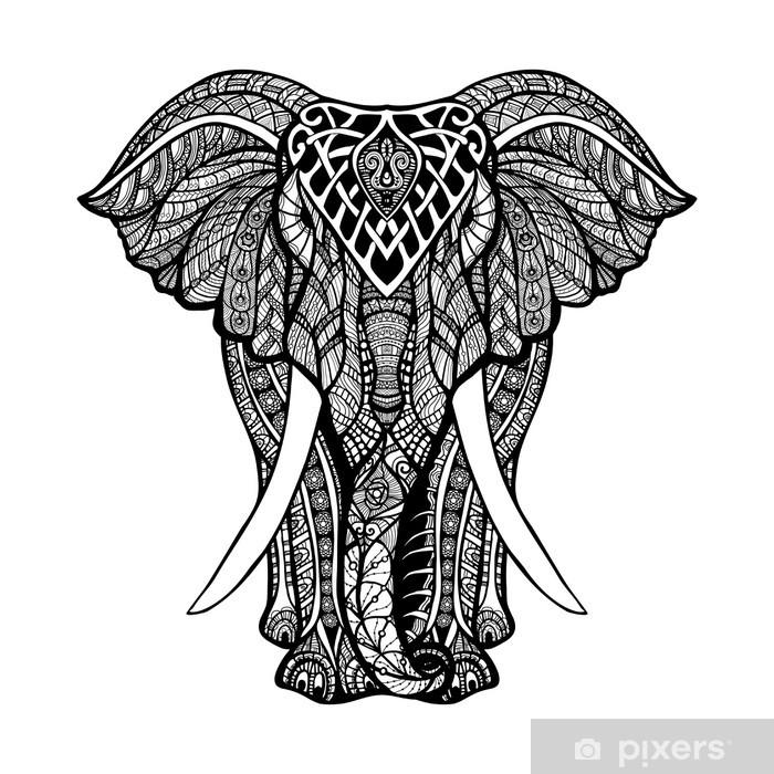 Papier peint vinyle Elephant décoratif Illustration - Mammifères