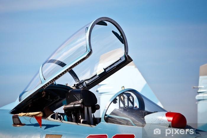 Sticker Pixerstick Cockpit de chasseur - Dans les airs