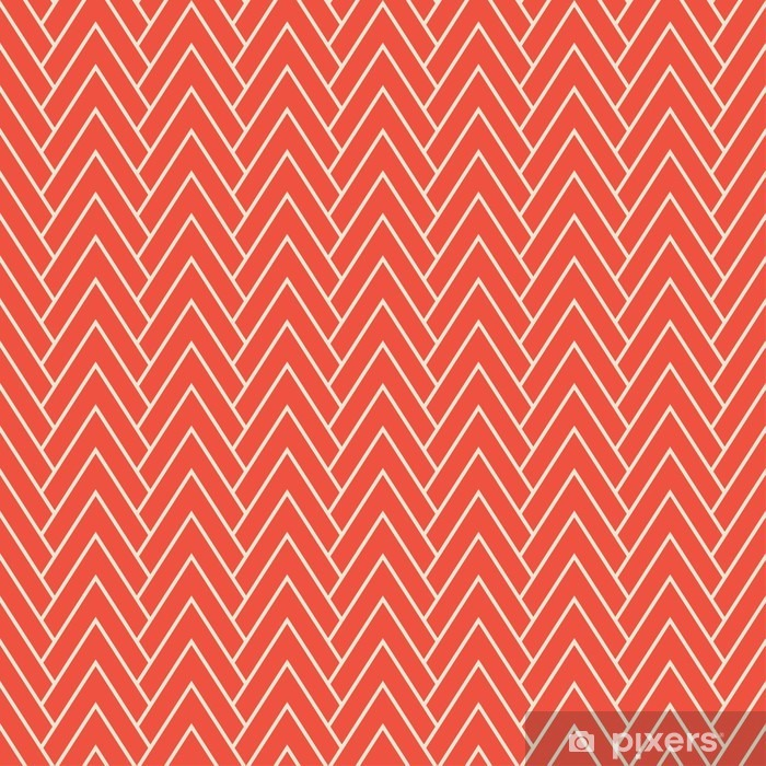 Samolepicí fototapeta Červená krokev vzor - Grafika