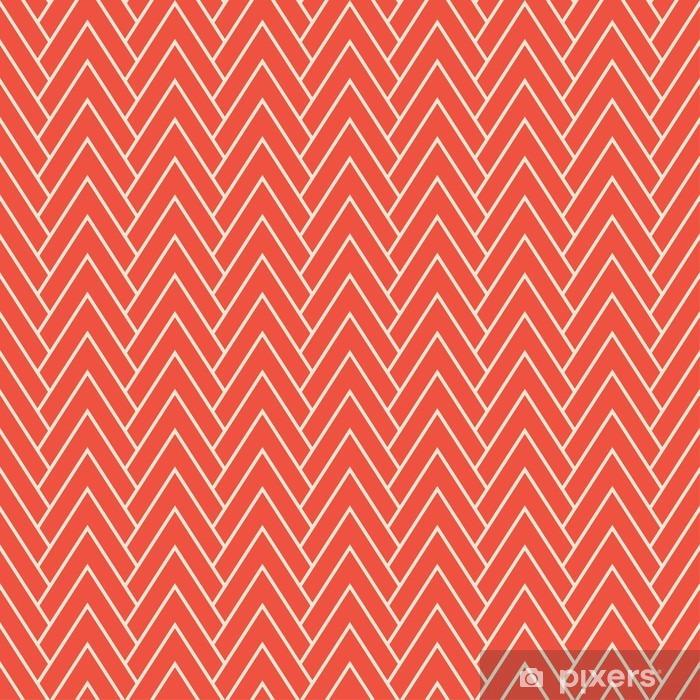 Selbstklebende Fototapete Roten Zickzack Muster - Grafische Elemente