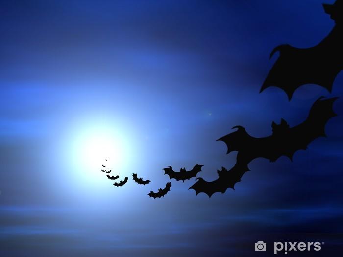 Fototapeta winylowa Halloween tła. Latanie nietoperzy. - Święta międzynarodowe