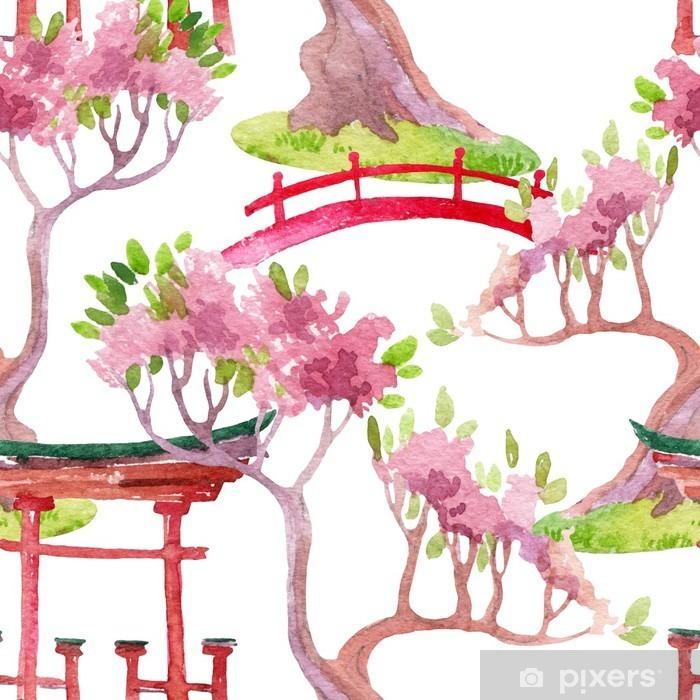 Papier Peint Autocollant Seamless japonais - Voyages