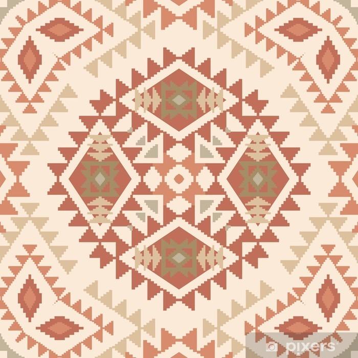 Plakat w ramie Abstrakcyjny wzór w stylu tribal navajo - Zasoby graficzne