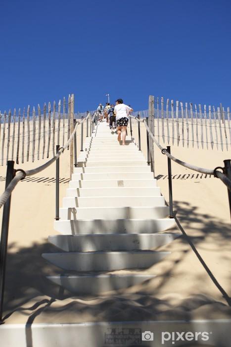 Papier peint vinyle Escalier dune du Pyla - Vacances