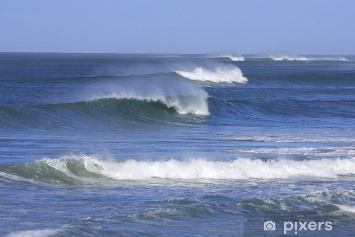Fotomural Estándar Hileras de hermosas olas con espuma del mar - Agua