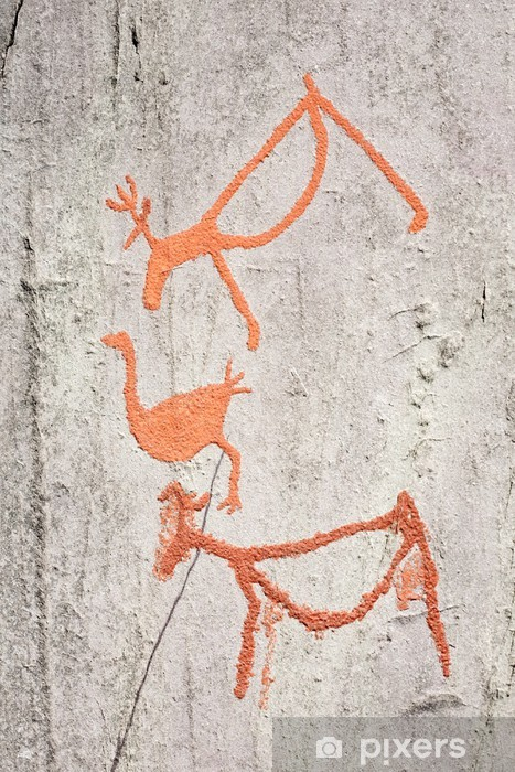 Rock carvings alta stock photo more pictures of alta norway