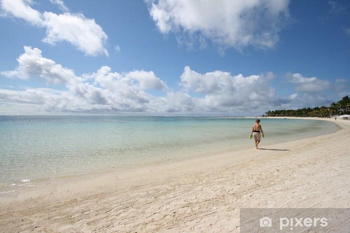 Fotomural Estándar Isla Mauricio, Paseo por la playa - África