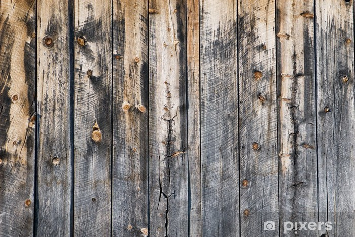 aged wood Vinyl Wall Mural - Themes