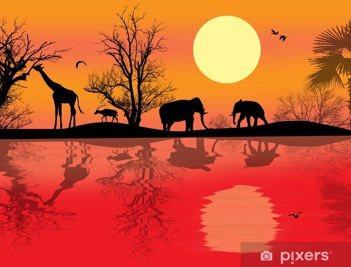 African safari theme Vinyl Wall Mural - Mammals