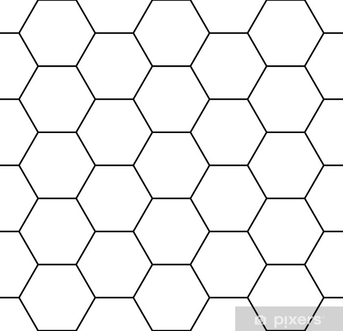 Vector Modern Seamless Geometry Pattern Hexagon Black And