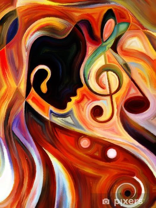 Vinyl Fotobehang Synergieën of Music - Kunst en Creatie
