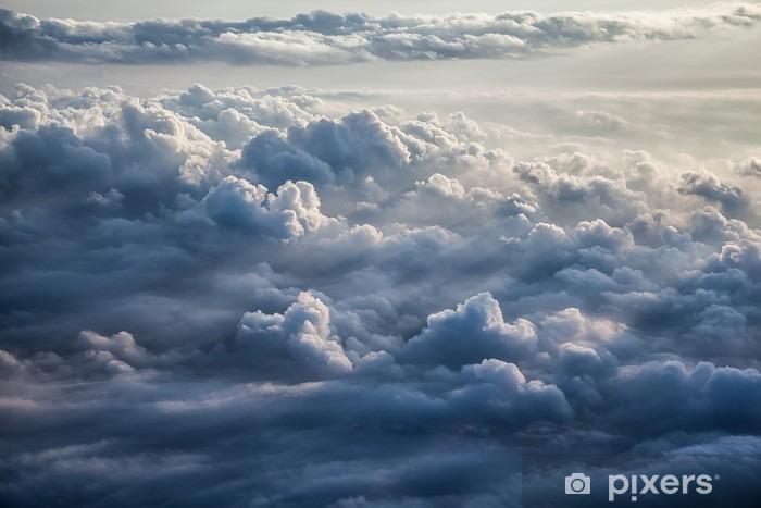 Vinyl Fotobehang Mooie blauwe hemel achtergrond - Landschappen