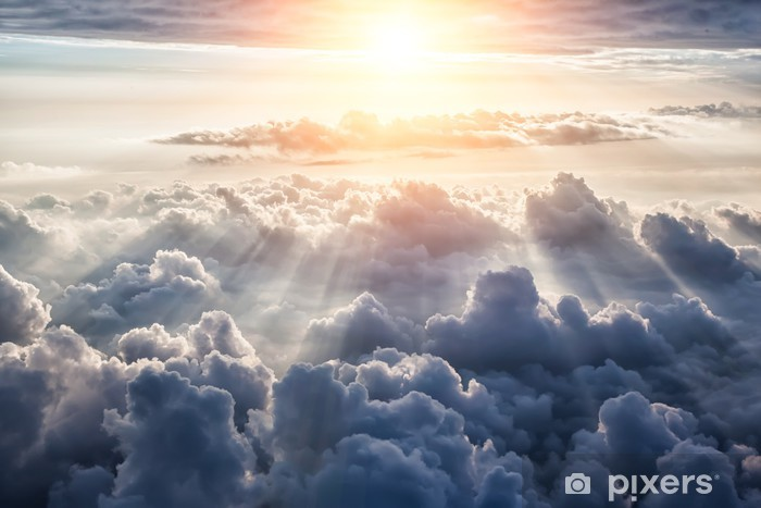 Fotobehang prachtige blauwe hemel u pixers we leven om te