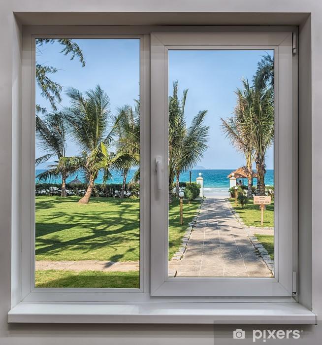 Papier Peint Autocollant La fenêtre donnant sur la mer - Eau