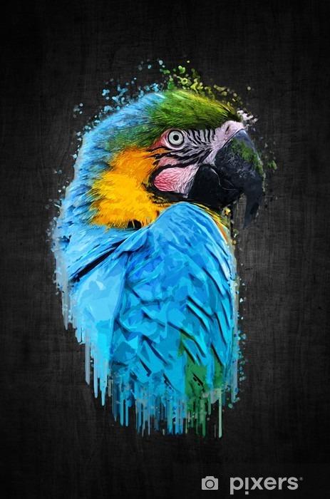 Nálepka Pixerstick Parrot pták (Severe ARA). malovat efekt - Zvířata