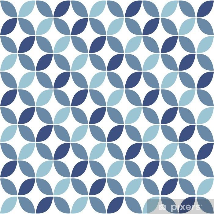 papier peint motif bleu g om trique retro seamless. Black Bedroom Furniture Sets. Home Design Ideas