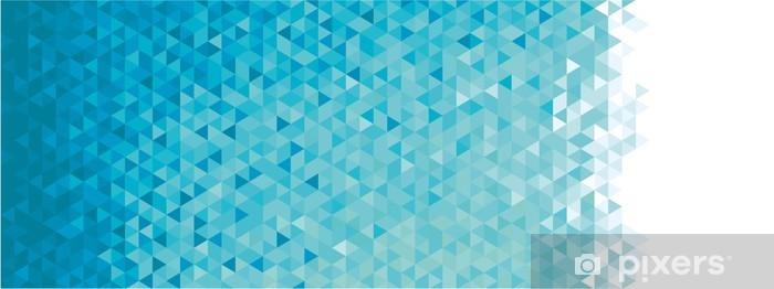 Nálepka Pixerstick Abstraktní geometrické banner. -