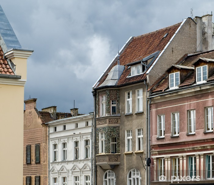 Fototapeta winylowa Widok ulicy w Polsce, stara część Olsztyna - Europa