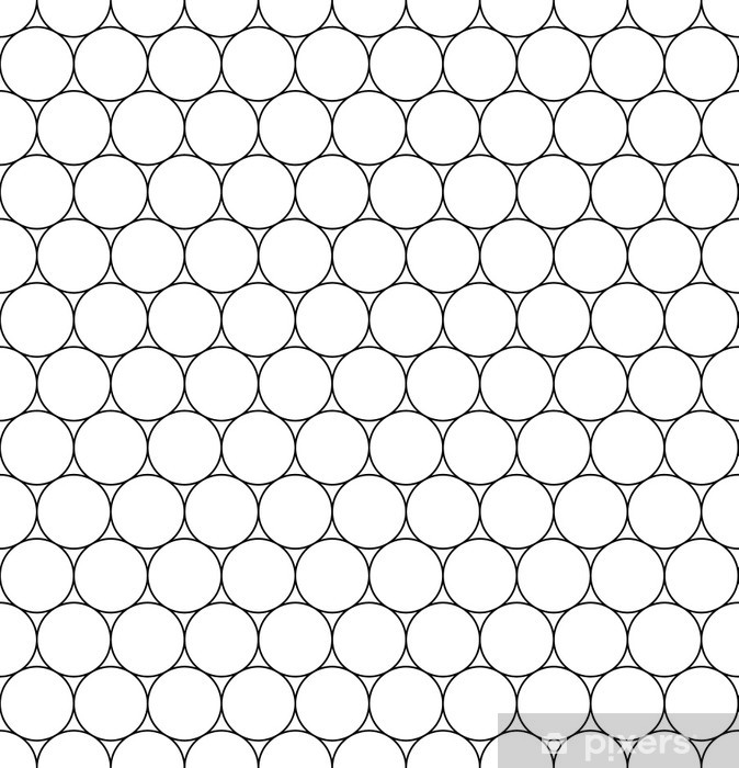 Vector modern seamless geometry pattern circles, black and white abstract  geometric background, trendy print, monochrome retro texture, hipster