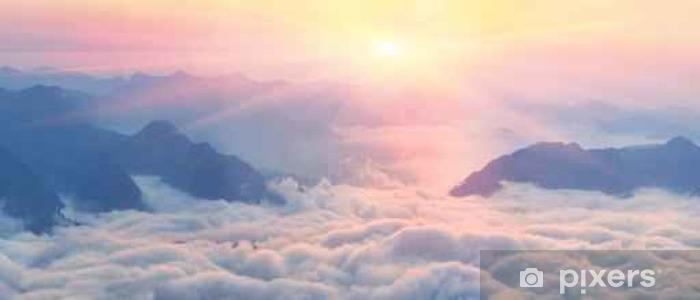 Papier peint lavable Aube au-dessus de la mer de brouillard - Landscapes