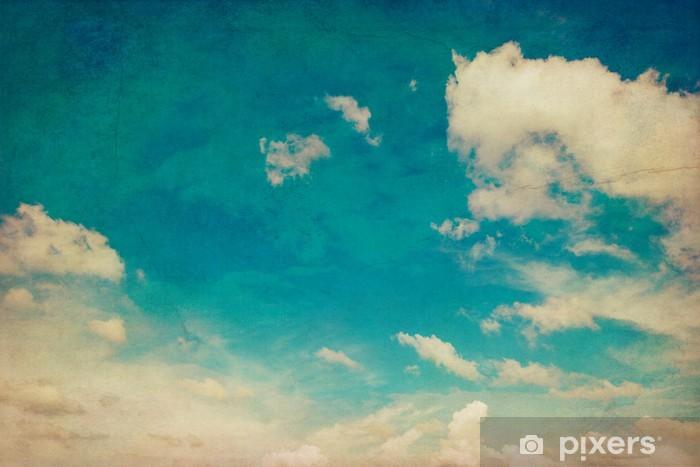 Vinyl Fotobehang Blauwe lucht en wolken achtergrond textuur vintage met ruimte - Hemel