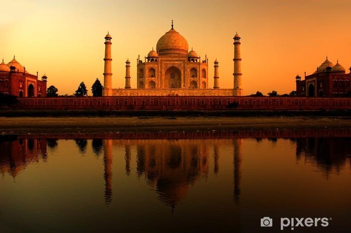 Vinylová fototapeta Taj Mahal v Indii během krásný západ slunce - Vinylová fototapeta