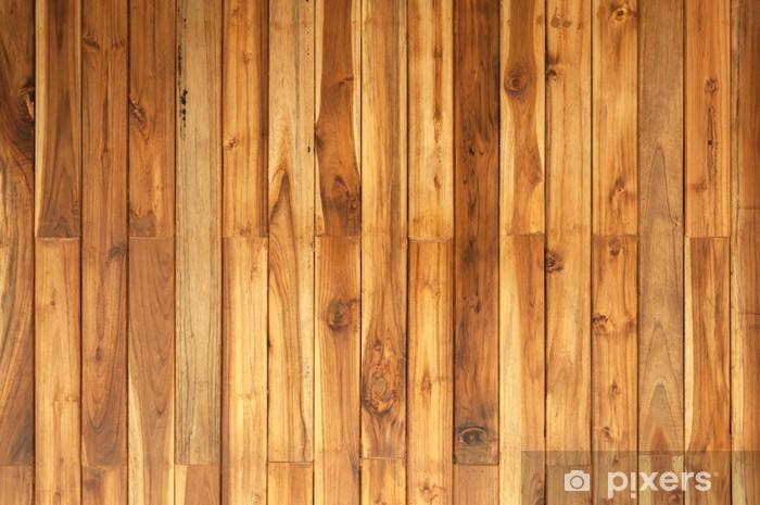 Naklejka Pixerstick Brown wood plank ściana w tle - Tekstury