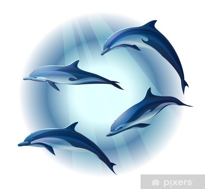 Plakat Delfiny - Zwierzęta żyjące pod wodą