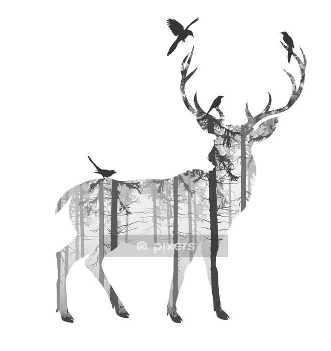 Vinilo para Pared deer - Mamíferos