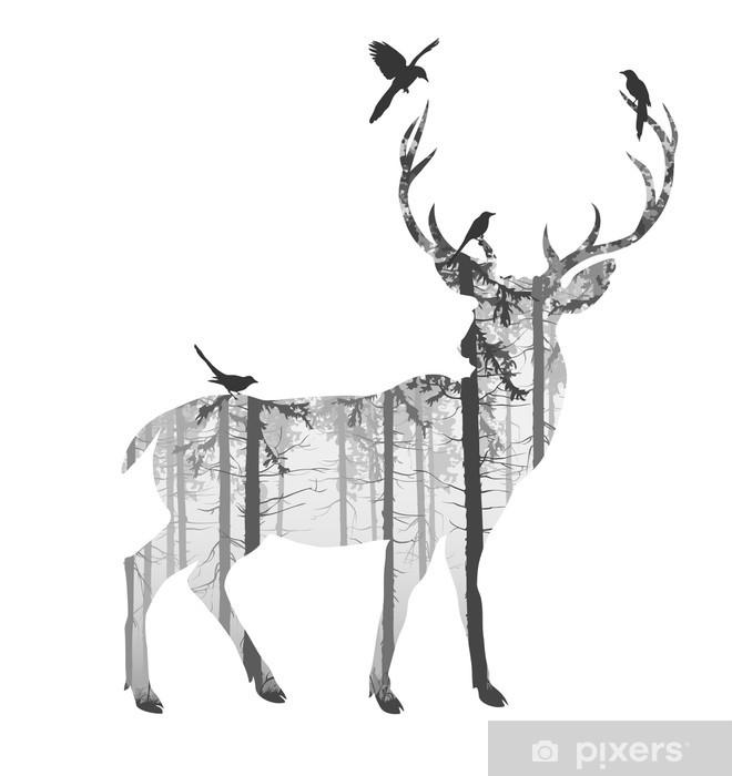 Sticker pour armoire deer - Mammifères