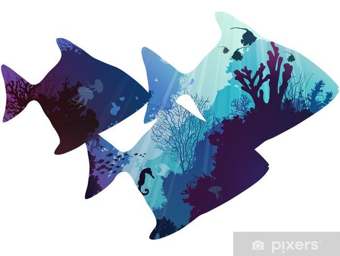 Nálepka na skříň Ryba -