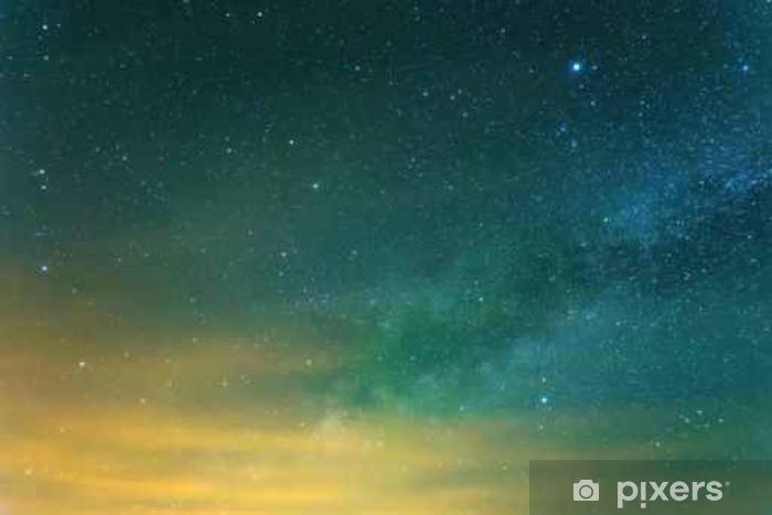 Fototapet av vinyl Starry himmel bakgrunn - Lanskap